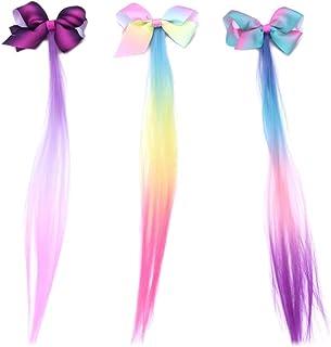 Lurrose 9 pezzi Cerchietto per capelli in tessuto rigido con denti colore misto