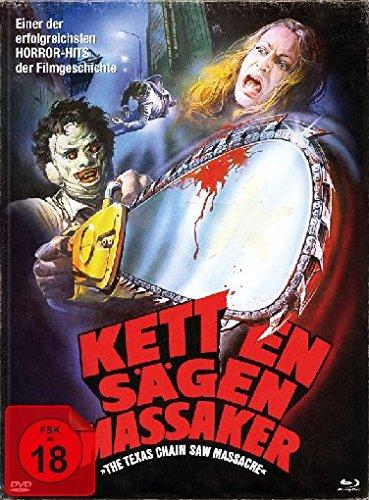 Texas Chainsaw Massacre - Kettensägen Massaker - Mediabook/Limitiert auf 1000 Stück  (+ DVD + Bonus-Blu-ray)