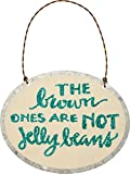 Tin Ornament - The Brown Ones Are Not Jelly Beans - Funny Easter Sign - Glitter - Gift Idea, Cute