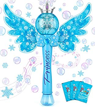 Bubble Machine for Kids Automatic Electric Frozen Toys for Girls Princess Bubble Wand Maker Machine Blower Musical&Light Up Bubble Toys for Toddlers Outdoor 2 3 4 5 6 7 8 Year Old Girl Gifts Toys