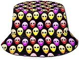 BONRI Sombrero de Pescador Unisex Fashion Aliens Among Us Gorra de Pescador Plegable UV Negro