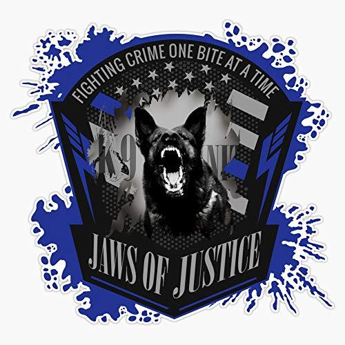 K-9 Unit - Jaws Of Justice Vinyl Waterproof Sticker Decal Car Laptop Wall Window Bumper Sticker 5'