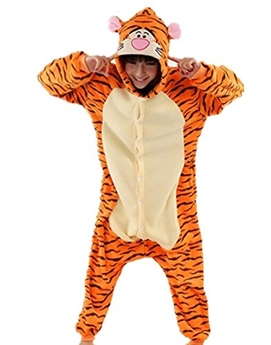 Wealsex Pijamas Unisexo Hombre Mujer Traje Disfraz Animal Pyjamas Cosplay Tigger S