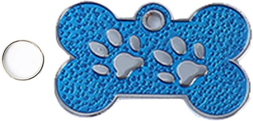 Aleaci/ón De Zinc Azul Profundo S Perro De Dos Patas Collar Colgante Collar Forma De Hueso Accesorios H87yC4ra Placa De Identificaci/ón para Mascotas Colgante Collar para Mascotas Llavero