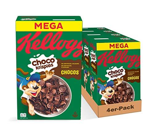 Kellogg's Choco Krispies Cerealien | 4er Vorratspack | 4 x 700g