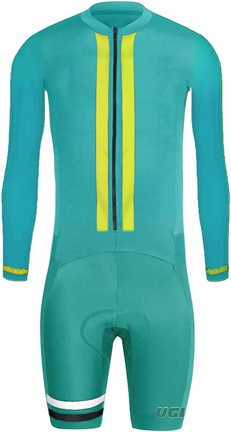 Uglyfrog 2018 New Men's Breathable Spring&Autumn Long Sleeve Skinsuit Cycling Kit With Gel Pad Outdoor Sports Wear Triathon Clothing CLT01