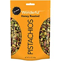 Wonderful No Shells Honey Roasted Pistachios 5.5 Ounce Resealable Pouch
