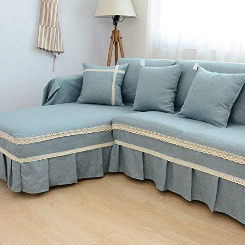 YAOWEI WERTY Color sólido con Todo Incluido Sofá Cover, de una Sola Pieza Antideslizante a Prueba de Polvo Sofá Toalla Estaciones Universal Simple Muebles Protector para la Sala,2,190cm*300cm