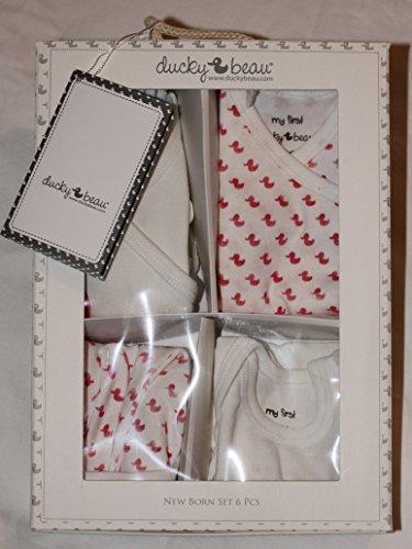 Ducky Beau Premium Marke Geschenk Set für Baby Mädchen oder Jungen–6Stück