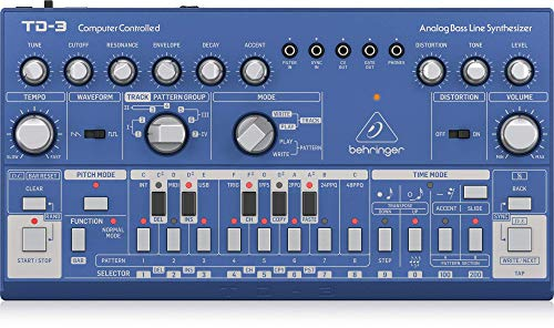 Behringer Td-3-Bu Analog Bass Line Synthesizer With Vco, Vcf, 16 Step...