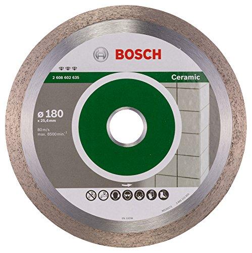 Bosch Professional Diamanttrennscheibe Best für Ceramic, 180 x 25,40 x 2,2 x 10 mm, 2608602635