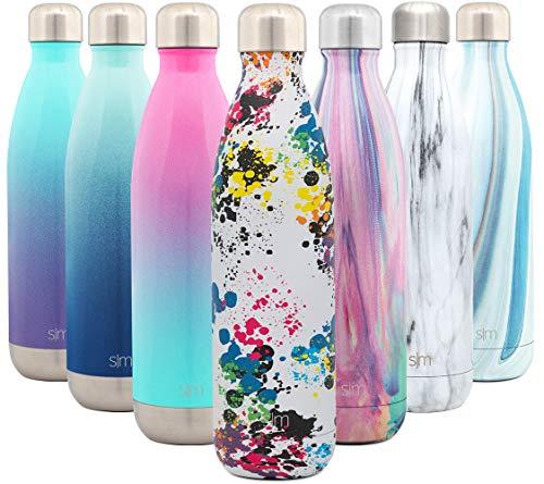 Simple Modern 750 mL Wave Borraccia Termica - Alluminio Bottiglia Acciaio Inox Acqua Termos da Viaggio per Portatile Inossidabile Borracce Termiche Decorazione: Pollock