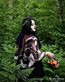 Alas de la Polilla capa corta disfraz de hada pañuelo chal traje de mariposa para halloween...