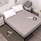 YDyun Unterbett Soft-Matratzen-Topper, Matratzenschutz Boxspring-Betten geeignet Wasserdichter Matratzenbezug
