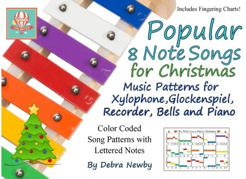 Price comparison product image Popular 8 Note Songs for Christmas: Music Patterns for Xylophone,  Glockenspiel,  Recorder,  Bells and Piano (Volume 3)