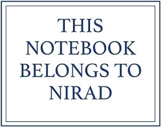 This Notebook Belongs to Nirad