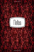 Notes: Gothic Red Roses And Skulls 120 Blank Lined Page Softcover Notes Journal, College Ruled Composition Notebook, 6x9 Blank Line Design Cover Note Book
