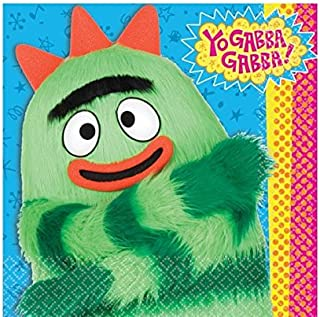 Hip and Hop Yo Gabba 6 1/2In X 6 1/2In Lunch Napkins Birthday Party Supplies, Multi