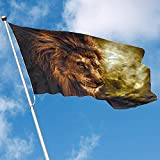 wallxxj Garten Flagge Haus-Flaggen-Feuer-Löwe-Garten-Flagge 150X90Cm Dekorative Flaggen-Fahnen-Polyester-Flagge Innenim Freien