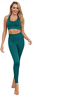 Fit Elements Seamless Women's 2 pieces Yoga Set Gym Wear Outfit Ladies Workout Fitness Clothes Sports Bra and High Waist Leggings Tracksuit Quick Dry Breathable Activewear, Tonga set