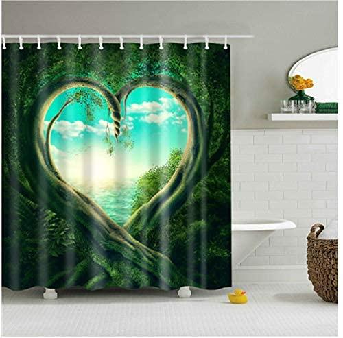 Skogslönn löv gardin för badrumsscen duschdraperi 150 x 180 cm tryckt vattentätt och mögelsäkert polyestertyg för badrum vattenbart duschdraperi