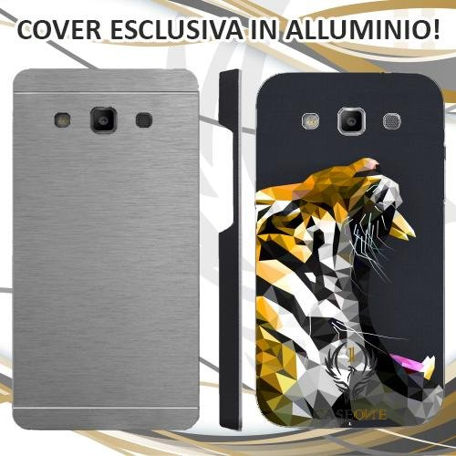 Custodia Cover Case Tiger 3D per Samsung Galaxy S3 Neo in Alluminio