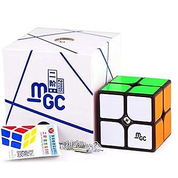 CuberSpeed YJ MGC 2X2 M Black Speed Cube YJ MGC Magnetic 2X2X2 Cube Puzzle