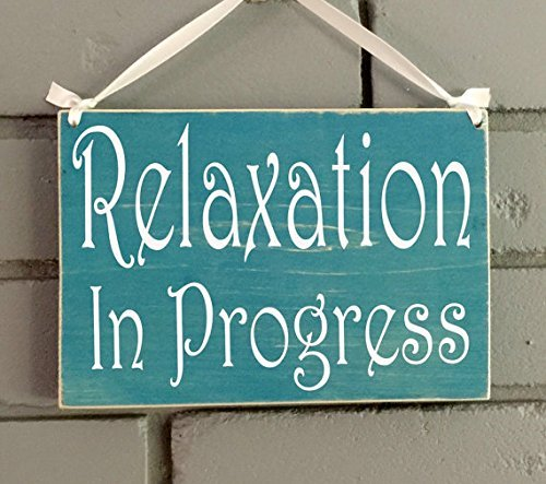 8x6 Relaxation in Progress Session Custom Wood Sign | Do Not Disturb Spa Salon Shhh Quiet Soft Voices Office Spa Service Wall Door Plaque