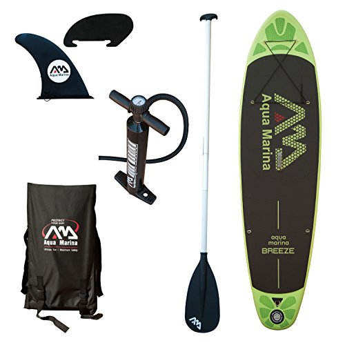 Aqua Marina A110163GNM Inflatable Stand-up Breeze Paddle Board with...