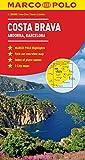 Costa Brava - Andorra, Barcelona Marco Polo Map (Marco Polo Maps) [Idioma Inglés]