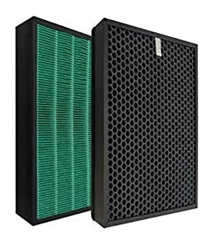 Fette Filter - Premium True HEPA with Activated Carbon Air Purifier Replacement Filters Compatible with Coway AIRMEGA Max 400/400s Models Compare to Part # Max2 (Part Number 3111737)- Pack of 2