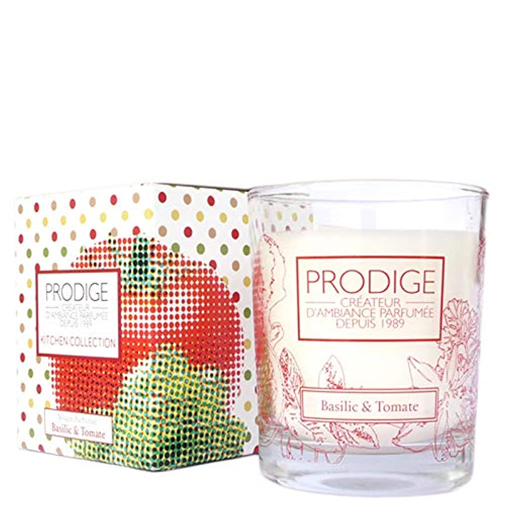 個人的に入るワットキッチンコレクション グラスキャンドル バジル&トマト 110g