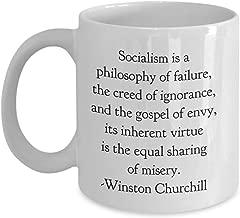 Winston Churchill Socialism Quote Mug