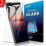 Sony Xperia 1 II ガラスフィルム TopACE Sony Xperia 1 II フィルム 日本旭硝子製 気泡防止 自動吸着 防指紋 高透明度 Xperia 1 II SO-51A / SOG01対応【2枚セッ】