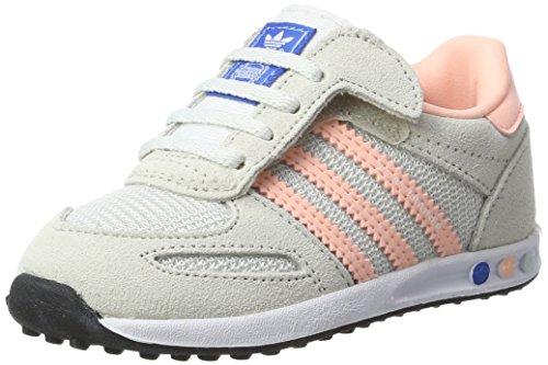 adidas La Trainer CF, Zapatillas Unisex bebé, Multicolor (Vintage White/Haze Coral/Clear Brown),...