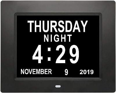 Reloj calendario con fecha, día y hora | Reloj Alzheimer ...