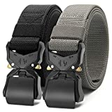 CHAOREN Tactical Work Belt 1.5', Casual Military Heavy Duty Web Belts for Men with Gift Box