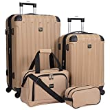 Travelers Club 4 Piece Set, Tan, 4 PC...