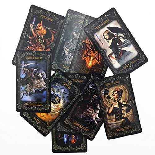 WQCC Tarot Cartas De Tarot, Cartas De Tarot De Alquimia Inglesa, Cartas De Oráculo De Brujas Diarias, Regalos De Fiesta Familiar, Juegos De Mesa, Cartas De Tarot (78 Fotos)