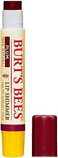 Burt's Bees 100% Natural Moisturizing Lip Shimmer, Plum, 1 Tube