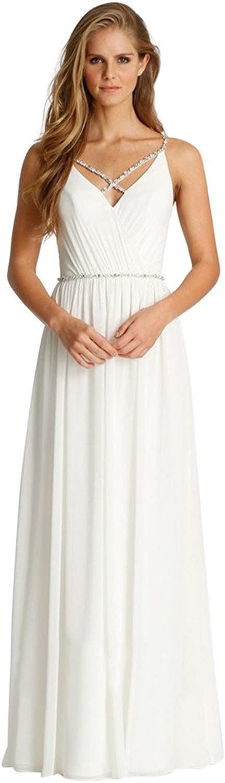 JoyVany Delicate Beaded VNeck Bridesmaid Dresses Summer Ruched Formal Dresses