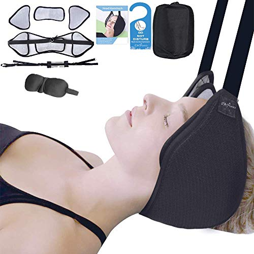 Neck Head Hammock Neck Cervical Traction for Back Pain Relief,Reduces Neck and Shoulder Stiffness with Improve Straps Buckle for Protection
