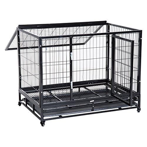 Pawhut Cage pour Chien Animaux Cage de Transport sur...