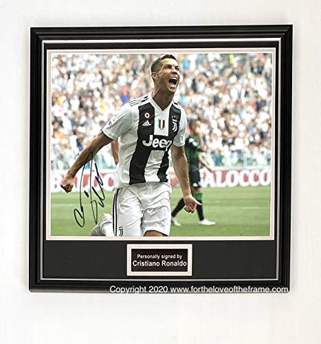 For the love of the frame Cristiano Ronaldo Juventus Fußball gerahmtes Foto mit Autogramm und Echtheitszertifikat