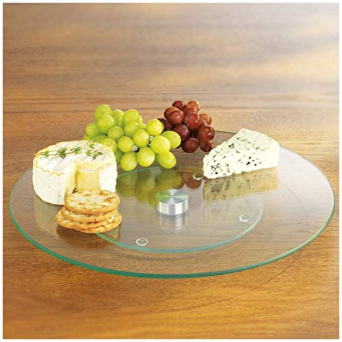 "Homestyle Tempered Glass Lazy Susan 10"" Round"