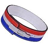 ARD Champs 10mm Gewicht Power Lifting Leder Hebel Pro Gürtel Gym Training Rot, Weiß & Blau,...