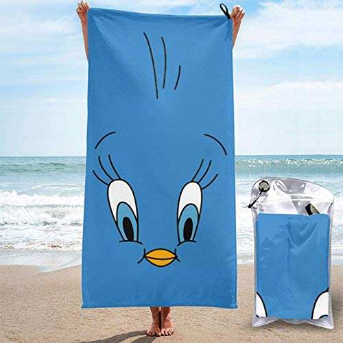 Yuanmeiju Schnelltrocknendes Badetuch Towel Tweety Adult Quick Drying Towel, 31.5 X63 Inches, Super Absorbent Folding Beach Towel