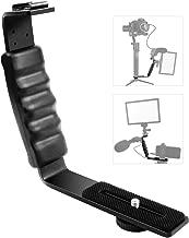 Heavy Duty Padded Hand Grip for Dslr Camera Camcorder DV Camera Flash Bracket Mount Video Grip L-Bracket With Dual Hot Shoe Mount 1//4 Tripod Screw