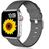 Muranne Bands Compatible with Apple Watch Band 40mm 38mm iWatch SE & Series 6 & Series 5 4 3 2 1, Cute Fashionable Soft Fabric Cloth Replacement Sport Wristbands for Women Men, Smoky Gray Pattern