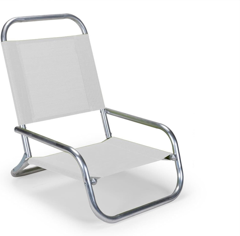 Telescope Casual Sun and Sand Folding Beach Chair, White